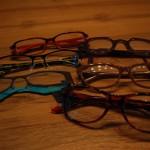 gekleurde brillen